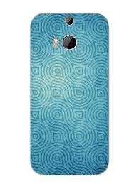 Htc M8 Designer Case Grunge Blue Waves Pattern Designer Mobile Phone Case Cover