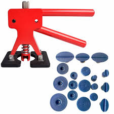 PAINTLESS DENT REMOVAL TOOL Dent Lifter Puller Car Body Repair Kit Hail Ding Remover