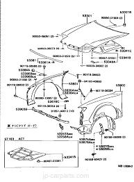 Hood front fender toyota part list jp carparts