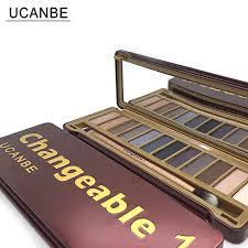 ucanbe brand new makeup eyeshadow palettes makeup brush 12 earth tone colors smoky eye shadow cosmetics make up kit set in eye shadow from beauty