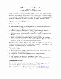 Fha Loan Processor Sample Resume Free Download Mortgage Clos Sevte