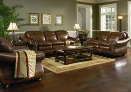 luxury leather living room set in living room with wood floor brown living room furniture ideas