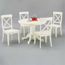 home styles round pedestal antique off white dining table