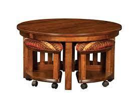 Espresso medium round composite coffee table with shelf with 100 reviews. Coffee Table With Stools You Ll Love In 2021 Visualhunt