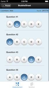 masteryconnect bubble sheet student bubblesheet is the app version of socrative this allows teachers to