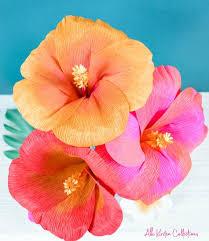 Paper Flower Cricut Template Crepe Hibiscus Paper Flower Templates Paper Flower Template