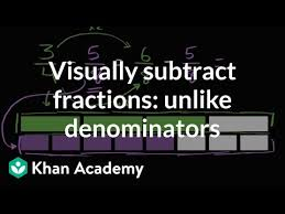 Visually subtracting fractions: <b>3</b>/<b>4</b>-<b>5</b>/8 (video) | Khan Academy
