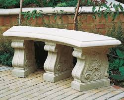 haddonstone curved 60inch garden bench