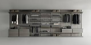 piombo lacquered structure back panels floor base shelves and units in grey oak