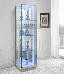 ... Cabinet Lights, Contemporary Cabinets Wall Mounted Glass Display Cabinet  With Lights Doors Design: stunning ...