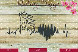 Download 2,855 svg stock illustrations, vectors & clipart for free or amazingly low rates! Horse Heartbeat Svg Dxf Png Digital Cut Files 77764 Svgs Design Bundles