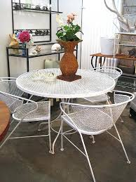 white cast iron patio furniture. exellent cast mid century patio chairs wrought iron 5 pieces set 4 white  cast to furniture