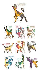 Girafarig Pokemon Pokemon Breeds Pokemon Fusion