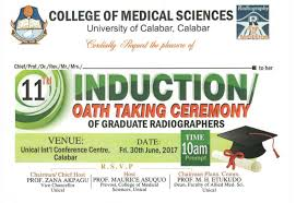 ... When Is Unical Resuming For 2016 Academic Session by Unical Induction  Ceremony Of Graduate Radiographers Oath