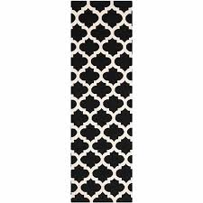 collection in black and white runner rug safavieh handwoven moroccan reversible dhurrie black geometric