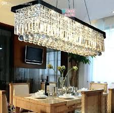 crystal chandelier pendant light rectangular