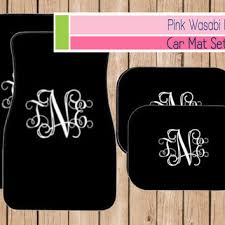 car floor mats for women. Monogrammed Car Mat Set Personalized Front Mats Accessories Choose Colors MONOGRAM Floor For Women A
