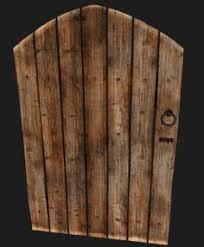 old wooden door 3d model 3d model