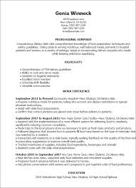 Resume Templates: Dietary Aide