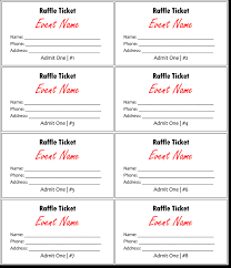 Template For A Raffle Ticket 20 Free Raffle Ticket Templates With Automate Ticket Numbering