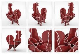 cnc file 3d rooster en puzzle