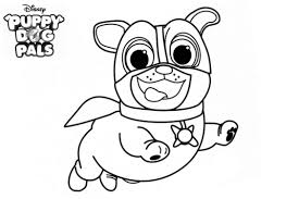 Disney Puppy Dog Pals Coloring Pages Free Printable Pictures