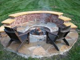 in ground outdoor fire pit ideas implementation of pertaining to plans 18
