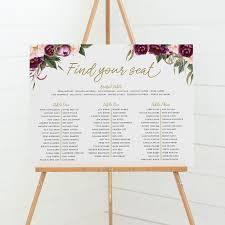 Beautiful Wedding Seating Charts Professionally Designed