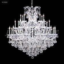 maria theresa grand 37 light crystal chandelier in silver with imperial crystal clear