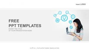 Laptop With Technology Icons Business Powerpoint Templates