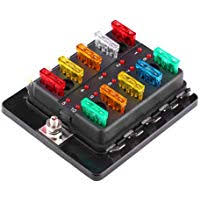 amazon best sellers best automotive replacement fuse boxes fuse box caravan 2006 qiilu 10 way blade fuse block box holder with led indicator 12v 32v for car