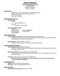 How Do You Write A Resume For Your First Job Sample With No Work