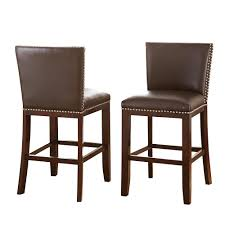 steve silver tiffany counter height brown chairs set of 2 tf650ccbn the home depot