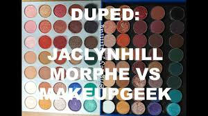 dupe jaclyn hill x morphe vs makeupgeek mug dupes for the entire morphexjaclyn hill palette