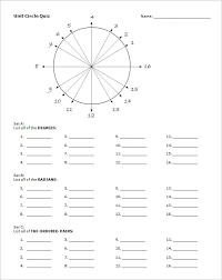 14 Unit Circle Chart Templates Doc Pdf Free Premium