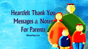 Thank You Message For Parents Appreciation Quotes Wishesmsg