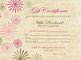 Photography Gift Certificate Template Photography Gift Certificate Template Free Mandegar Info