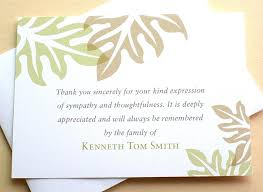 Thank You Note After Funeral To Coworkers Thank You Notes For Bereavement Funeral Com Sample Aitchcue