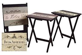 tv tray tables. cape craftsman tv tray set with stand, cucina, of 4 tv tables