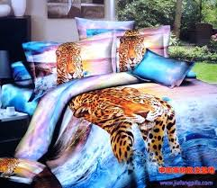 purple print sheets aqua blue purple leopard tiger animal print bedding sets queen size bedspread duvet cover sheets bed sheet cotton in bedding sets from