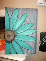 easy painting ideas on paper flower canvas best daisy photos