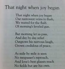 w h auden the unknown citizen my library book marks that night when joy begin w h auden