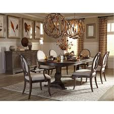 Two Pedestal Dining Table Art Furniture 215221 1513 Saint Germain Double Pedestal Dining