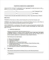Painting Contract Forms Worx Resume