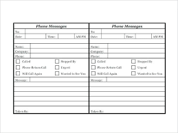 Phone Message Log Book Message Book Template Communication Log 8 Free Word
