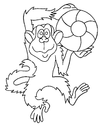 Small Picture Monkey coloring page Animals Town Free Monkey color sheet