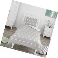 details about bloomsbury mill grey white stars kids bedding set single duvet cover and