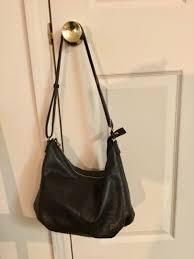 margot black leather handbag