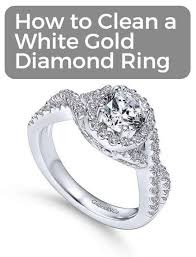how to clean a white gold diamond ring