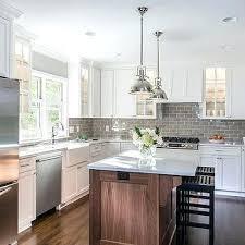 gray backsplash white cabinets kitchen with gray subway tiles kitchen backsplash white cabinets grey countertop